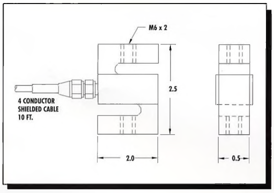 AmCells STB-50 S-Type/S-Beam Aluminum Load Cell 50kg - SI Thread Cross Section Specification