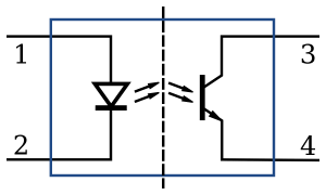 Figure 3. A Schematic for an Opto-coupler