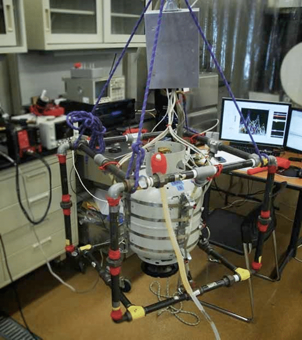 photo of first test structure