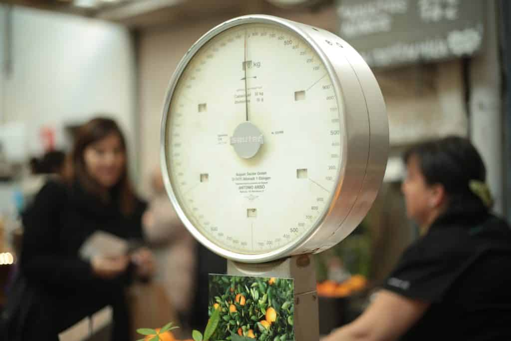 a comercial food scale