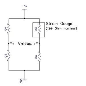 Figure 2. A Wheatstone bridge setup.